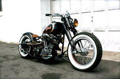 old school motorcycle