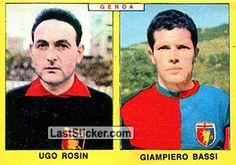 UGO ROSIN - GIUSEPPE BASSI 1966-67 GENOA Panini Calciatori 1966-1967 - Collection preview - laststicker.com