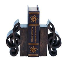 Benzara Book End Pair Adorned, Rich Finish