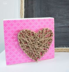 Rustic Glam Heart String Art {Valentines Project… or not}