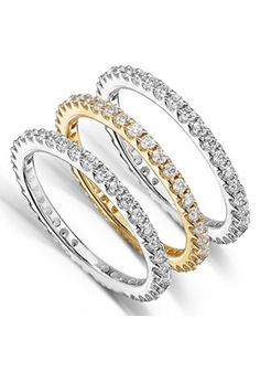 Back to school #Shopping Holiday coupons discounts deals,bargains Planet Goldilocks http://www.planetgoldilocks.com/shopping.htm Diamond-Me Women's 1-1/2ct TDW Diamond 3-piece Stackable Eternity Ring Set  #save 48% #jewelry