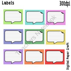 Labels from Digital PaperCraft on TeachersNotebook.com (9 pages)