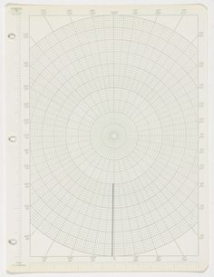 "Robert Barry: 10° #2, 1968. 11 drawings, ink on polar coordinate paper. Dimensions each: 11 × 8 3/8"" (27.9 × 21.3 cm). Collection Museum of Modern Art, New York."