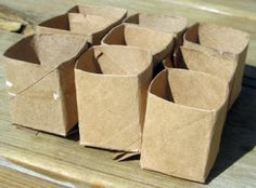 Seed Starter Pots from Empty Toilet Paper Rolls - All Our Days