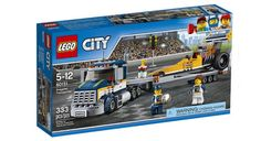 Build a dragster and transporter, featuring a detachable trailer and a lowering ramp! Includes a truck driver and a dragster driver minifigures LEGO City building toys are compatible with all LEGO construction sets for creative building Lego Disney, City Super, Van Lego, Lego City Sets, Car Trailer, Lego News, Lego Building, Toys R Us, Shopping