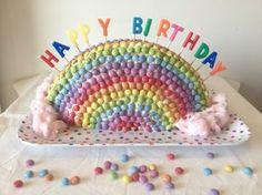 Gâteau d'anniversaire Arc en ciel - Rainbow cake - Tizi Cooks