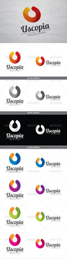 Uscopia U Letter - Logo Design Template Vector #logotype Download it here: http://graphicriver.net/item/uscopia-u-letter-logo/3820474?s_rank=684?ref=nexion