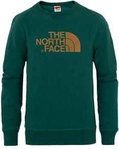 The North Face Drew Peak Crew Neck Sweatshirt Night Green Crew Neck Sweatshirt, The North Face, Draw, Night, Sweatshirts, Green, Sweaters, Black, Fashion