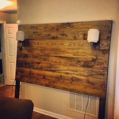 Getting married in October, built this guy for our bedroom. Dark walnut stained headboard. Approximately $100.