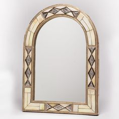 17-Inch x 13-Inch Hand-Carved Bone Mirror (Morocco)   Overstock.com