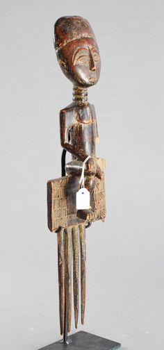 Grand peigne ASHANTI ou AKAN Ghana Large comb Art Africain arts premiers tribal | eBay