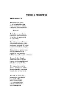 amorfinos cortos versos y amorfinos by palenqueko lagunak Verses, Authors