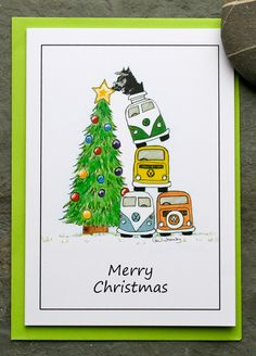 vw camper/kombi greetings cards by AudreysAdventures on Etsy