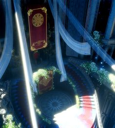 """""""Throne room of the wedding sequence. Fantasy City, Fantasy Castle, Fantasy Places, Fantasy World, Fantasy Concept Art, Final Fantasy Xv, Fantasy Artwork, Fantasy Art Landscapes, Fantasy Landscape"""
