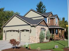 exteriour houses with stone accents | Exterior Painting Gallery
