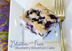 Gluten Free Blueberry Breakfast Cake