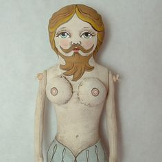 Bearded Lady Circus Doll