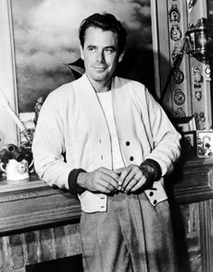 wehadfacesthen:  Glenn Ford, cool and casual in the 1940s
