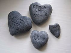 Love on the Rocks Faux rocks made from clay are the perfect way to carve your message in stone. Diy Craft Projects, Projects For Kids, Craft Ideas, Diy Ideas, Decor Ideas, Brick Crafts, Fake Rock, Love Rocks, Collaborative Art