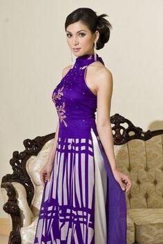 modern ao dai | ... cut with flared sleeves. Very modern. An ao dai for the bride