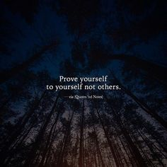 Prove yourself to yourself not others. —via http://ift.tt/2eY7hg4