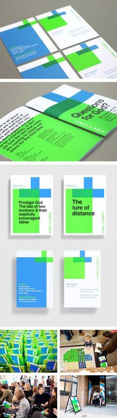 Vine Church identity and branding by Toko #branding #stationery #businesscard