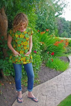 Bess Top - a pattern by Imagine Gnats by Laura - Behind the Hedgerow | Project | Sewing / Dresses | Shirts, Tanks, & Tops | Kollabora