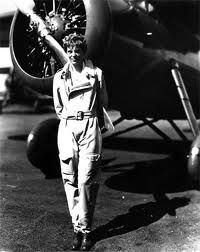 Amelia Earhart could really carry off a flight jump suit.  Also, she had some fabulous scarves that she wore flying