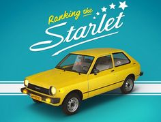 Toyota Starlet, Classic Japanese Cars, Toyota Cars, Car Advertising, Mazda, Slip On, Autos, Hipster Stuff