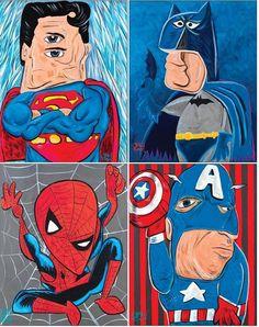 Picasso Superheros, by WonderBros