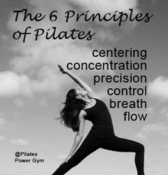 The six principles of Pilates                              …