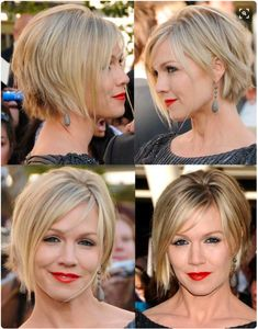 20 Layered Hairstyles for Short Hair Jennie Garth short hair cut & color. NICE, we love this look. Get it today. Short Natural Curls, Short Thin Hair, Short Hair With Layers, Short Hair Cuts, Short Hair For Round Face Plus Size, Short Blonde, Mom Hairstyles, Short Bob Hairstyles, Layered Hairstyles
