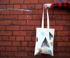 <3 Canvas Tote Bag screen printed / The Stars by hey sosi