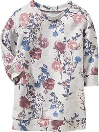 Floral Sweatshirt Dresses for Baby