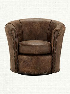 Benedict Leather Swivel Chair |  Lounge Las Vegas style with the steady-handed stationary chair or spin things up with the Benedict Swivel Chair.