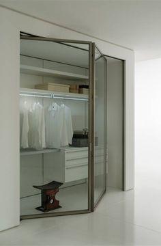 #Boffi closet system with glass door