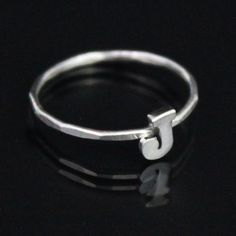 #nauticalwheelerjewelry.com                         #ring                     #Initial #Ring            Initial Ring - J                                    http://www.seapai.com/product.aspx?PID=633492