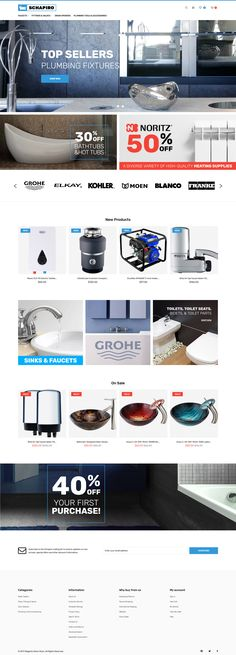 Magento Theme , Schapiro - Plumbing Supplies