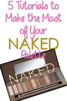 5 Fabulous Tutorials to Make the Most of Your Urban Decay Naked Palette. Obsessed with urban decay palettes! All Things Beauty, Beauty Make Up, Diy Beauty, Beauty Hacks, Kiss Makeup, Love Makeup, Hair Makeup, Makeup Tips, Makeup Eyebrows