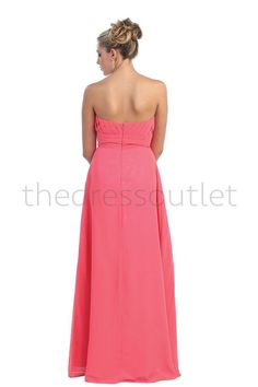 Long Chiffon Plus Size Bridesmaid Formal Evening Pleated Dress - The Dress Outlet - 9