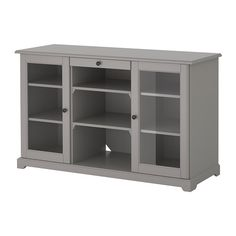 LIATORP Sideboard IKEA A cord outlet in the back makes it easy to gather all cords in one place.