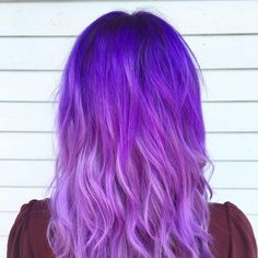 Purple ombre is a fun way of going creative and elegant. It's a coloring technique that's got that royal look to it, something that has made it popular..