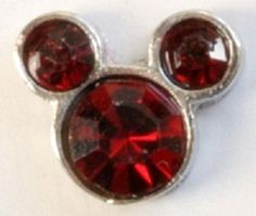$6.98  January Mickey Mouse Birthstone Floating Heart Locket Charm