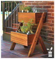 Huerta doble madera