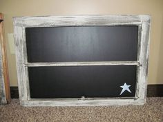 Chalkboard window... I have a 2-paned window, similar to this one.  Thinking about painting the glass with chalkboard paint...