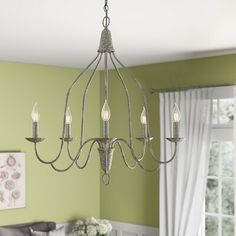 Birch Lane: Farmhouse & Traditional Furniture - Made to Last Empire Chandelier, Globe Chandelier, 5 Light Chandelier, French Country Chandelier, Farmhouse Chandelier, Kitchen Chandelier, Room Lights, Ceiling Lights, Beach Cottage Style