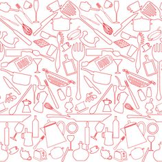 Kitchen Pattern Roll | Wall Covering for Wall Decor | Pinterest ...