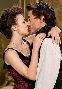 Irene Adler and Sherlock Holmes (Rachel McAdams and Robert Downey Jr. Robert Downey Jr, Sherlock Holmes Robert Downey, Sherlock And Irene, Rachel Mcadams Sherlock Holmes, Holmes Movie, Elementary My Dear Watson, Guy Ritchie, Actrices Hollywood, Love Dating