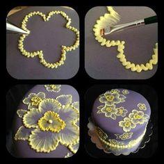 Resultado de imagem para brush embroidery cake