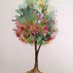 Árvore, tree 10, aquarela / watercolor 21×15 cm. - 40 trees project By Adriana Galindo - drigalindo1@gmail.com